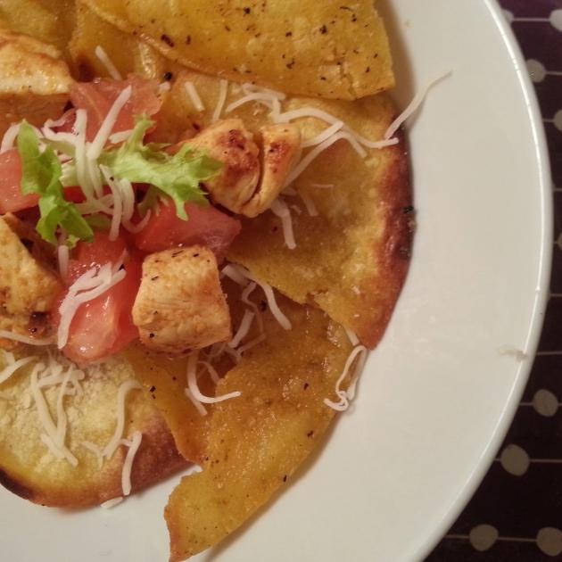Chicken Nachos with Homemade Tortillas