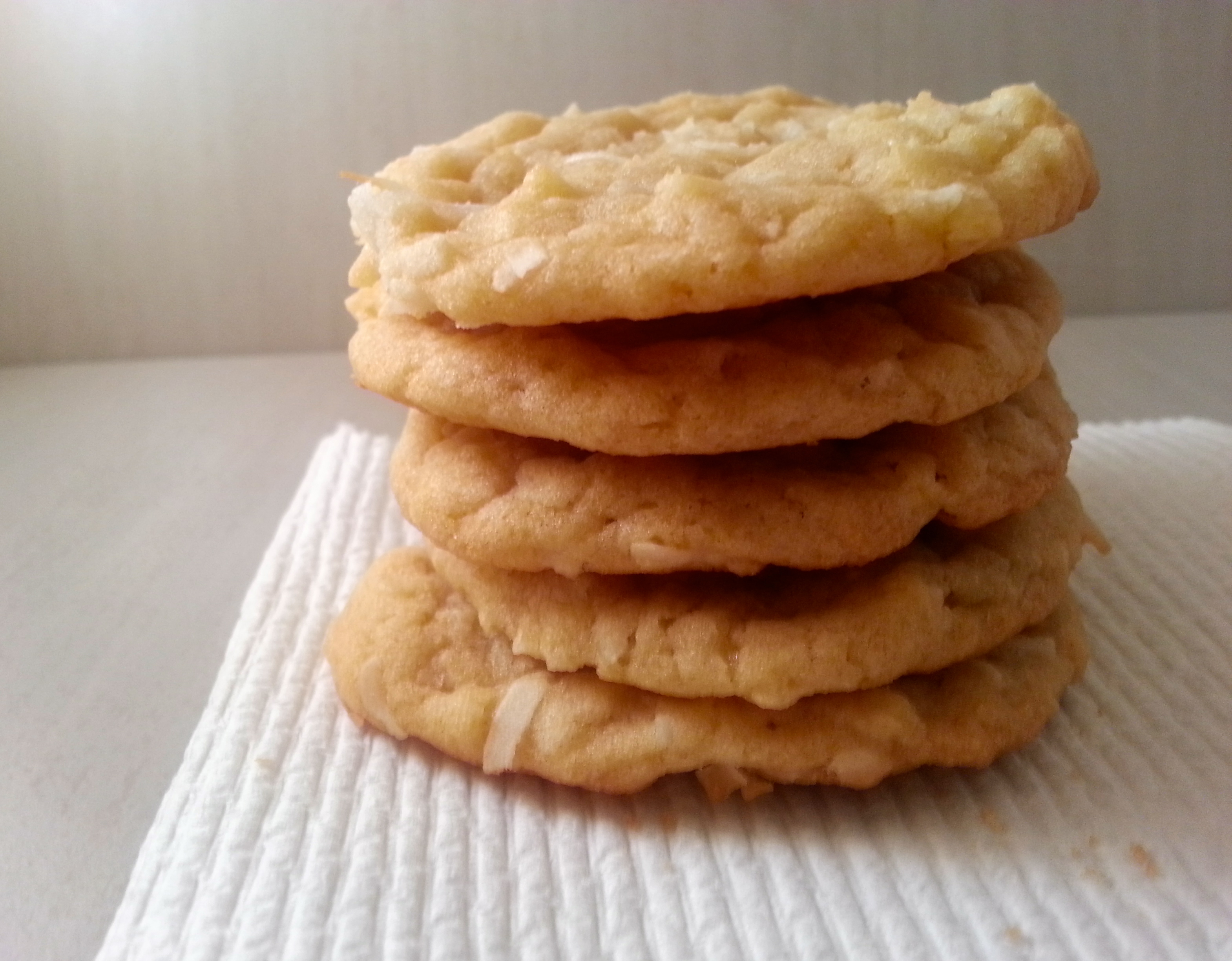 ... coconut cookie recipe a try. The cookies were excellent: chewy, light