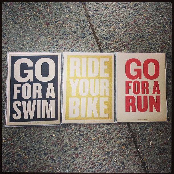 Triathlon Postcards