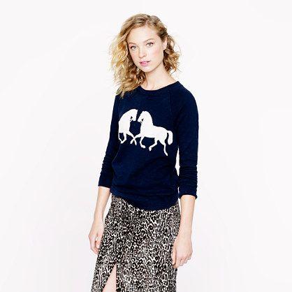 j.crew horse sweater