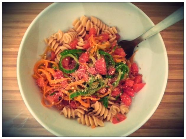 Vegatarian Pasta Recipe in Ten Minutes miaprimacasa.com