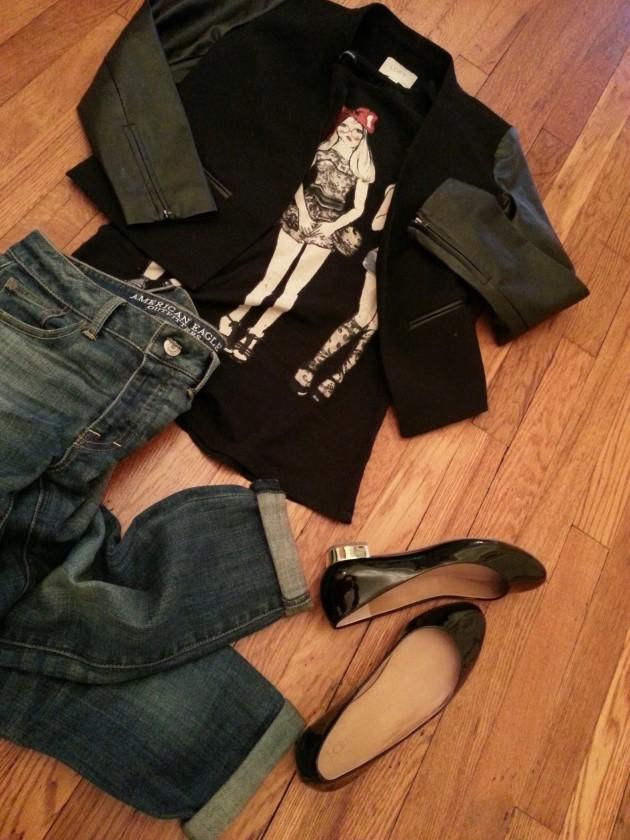 My Style Uniform: Boy Jeans + Graphic Tee + Blazer on miaprimacasa.com 3