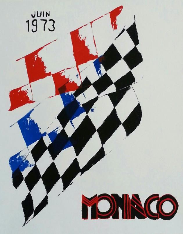 Vintage-inspired Monaco Grand Prix poster screen print miaprimacasa.com