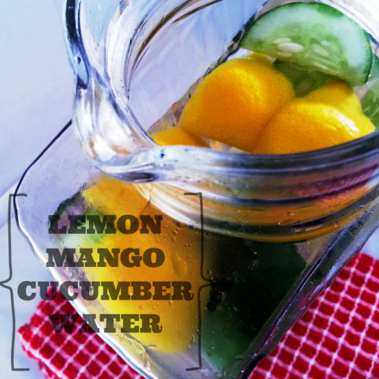 Lemon Mango Cucumber Water