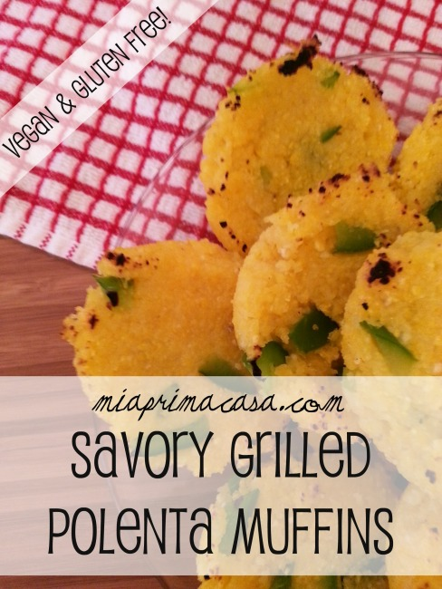 Savory Grilled Polenta Muffins- so easy, so good!
