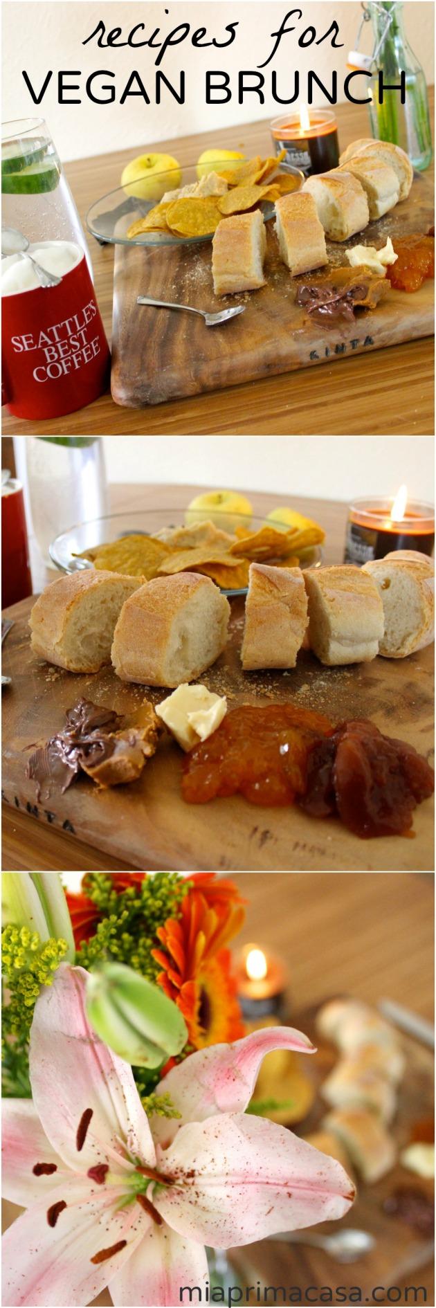 Recipes for Vegan Brunch on miaprimacasa.com