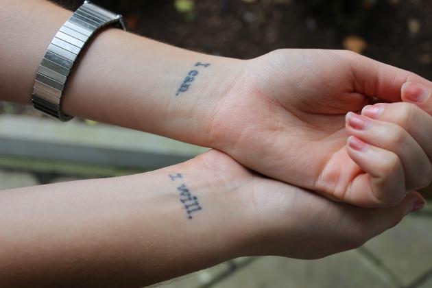 I can, I will wrist tattoo