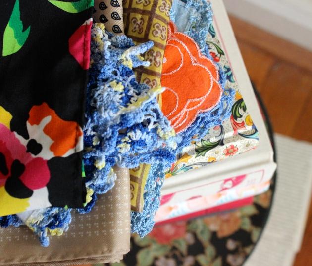 Vintage Handkerchiefs + Head Scarves