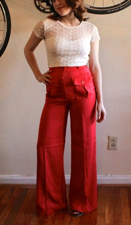 70s Bell Bottoms Pants at The Gibbson Girl #100daysofmiaprima