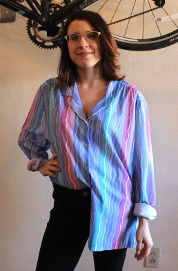 70s Stripe Shirt at The Gibbson Girl #100daysofmiaprima