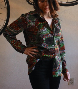 70s Groovy Shirt at The Gibbson Girl #100daysofmiaprima