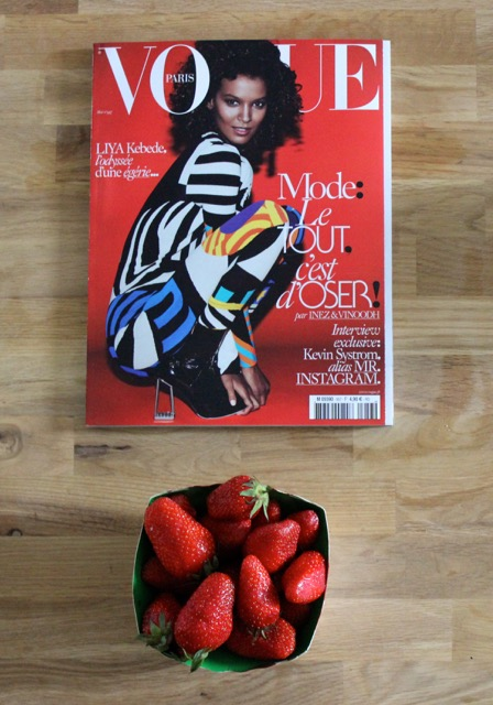 Strawberries and Vogue in Paris #100DaysofMiaPrima