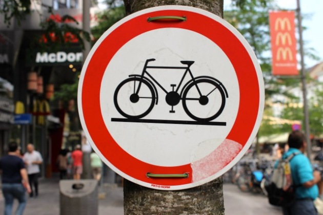 Antwerp, Belgium Bike Sign #100DaysofMiaPrima