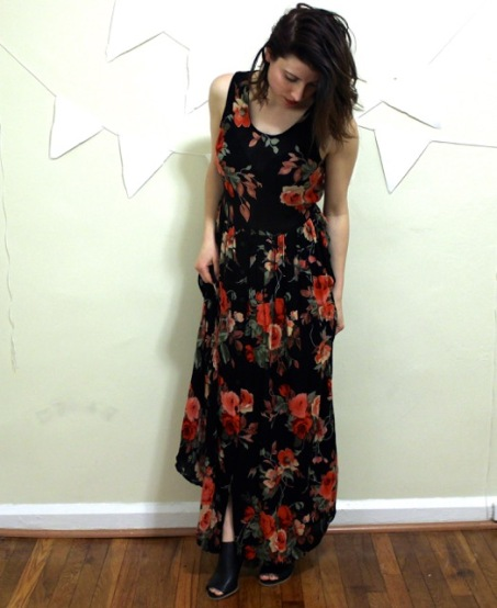 Vintage Floral Dress The Gibbson Girl