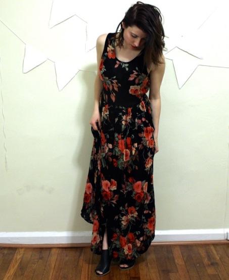 Vintage Floral Dress The Gibbson Girl