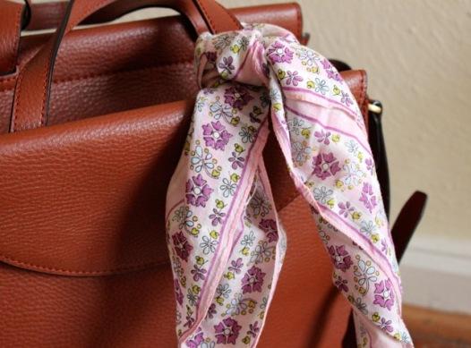 Vintage Floral Handkerchief The Gibbson Girl