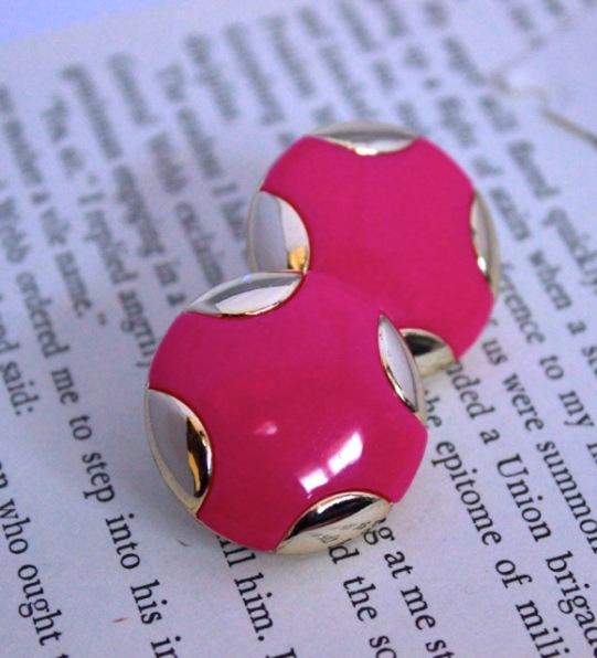 Vintage Pink Earrings The Gibbson Girl