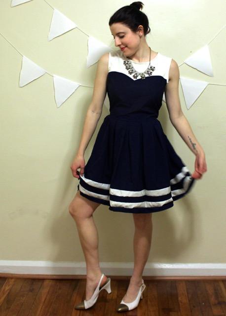 Vintage Sailor Sun Dress The Gibbson Girl